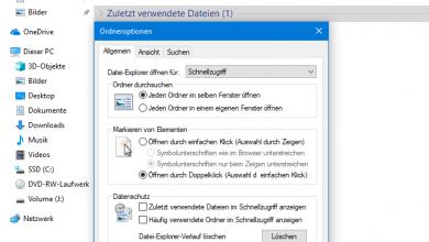 Bild von Windows 10 zuletzt verwendete Dateien ausblenden