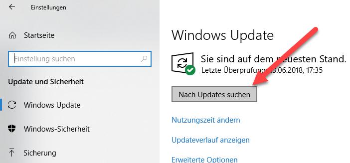 Updates suchen
