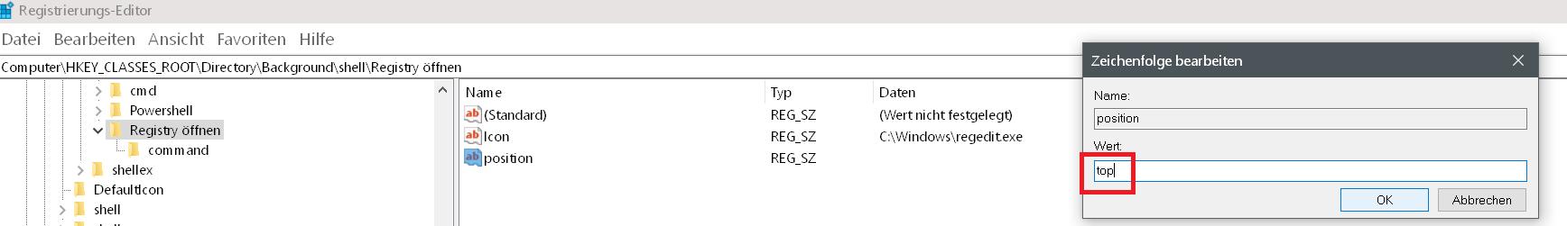Windows 10 Rechtsklick Kontextmenü erweitern 15