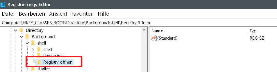 Windows 10 Rechtsklick Kontextmenü erweitern 6
