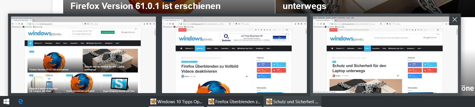 vorschau bilder - Windows 10 statt Vorschaubilder nur Text in der Taskleiste