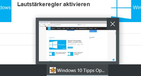 vorschau klein - Windows 10 Vorschaubild in der Taskleiste vergrößern