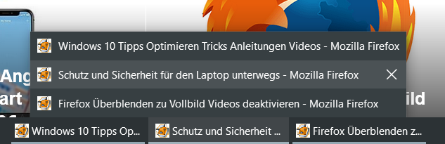 vorschau nur text - Windows 10 statt Vorschaubilder nur Text in der Taskleiste