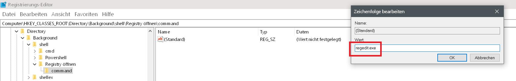 Windows 10 Rechtsklick Kontextmenü erweitern 9