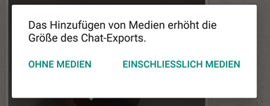 whatsapp - WhatsApp Chat per E-Mail Sichern Exportieren Android iPhone