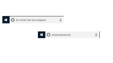 windows 10 text in dem suchfeld suchbox 390x220 - Windows 10: Suchleisten-/Suchbox-Text ändern