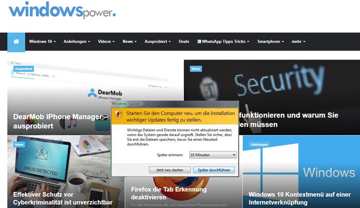 333 700x405 - Windows 7/10 Update Schleife deaktivieren