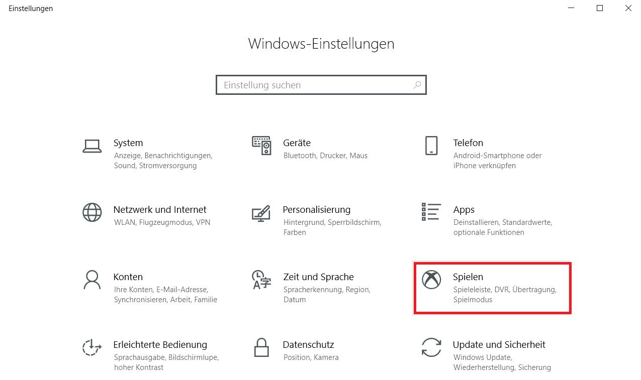 einstellungen spielen - Windows 10 Eintrag Spielen unter Einstellungen entfernen