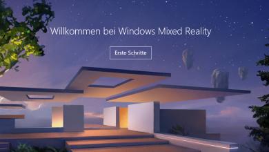Bild von Windows 10 Mixed Reality ins Einstellungsfenster einfügen