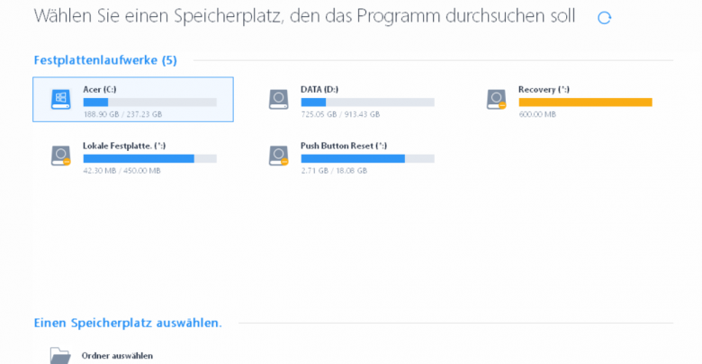 forenbild 780x405 - EaseUS Data Recovery Wizard 12.6 ausprobiert - Wir verlosen 5 Lizenzen