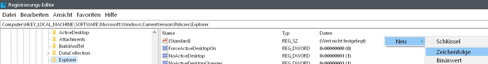 neue zeichenfolge 1 - Windows 10 Eintrag Spielen unter Einstellungen entfernen