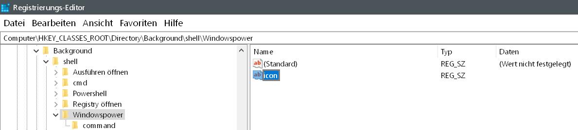neue zeichenfolge icon erstellt - Windows 10 beliebige Webseite aus dem Desktop Kontextmenü starten