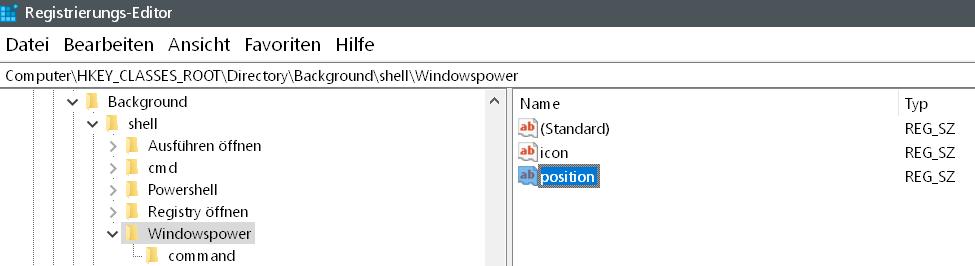 neue zeichenfolge position erstellt - Windows 10 beliebige Webseite aus dem Desktop Kontextmenü starten
