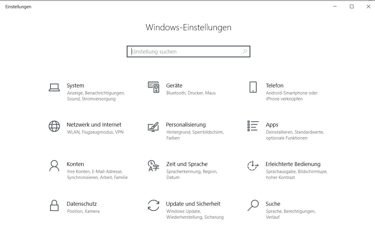 ohne eintrag - Windows 10 Eintrag Spielen unter Einstellungen entfernen