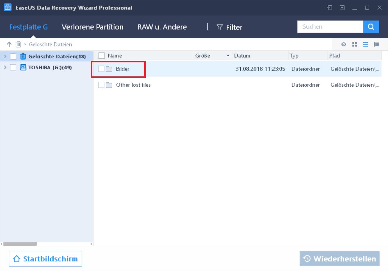 ordner bilder gefunden - EaseUS Data Recovery Wizard 12.6 ausprobiert - Wir verlosen 5 Lizenzen
