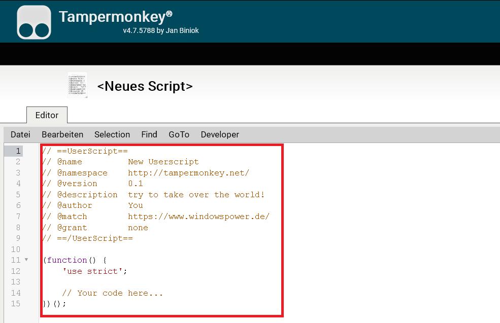 originaltext entfernen - Firefox die Tab Erkennung deaktivieren