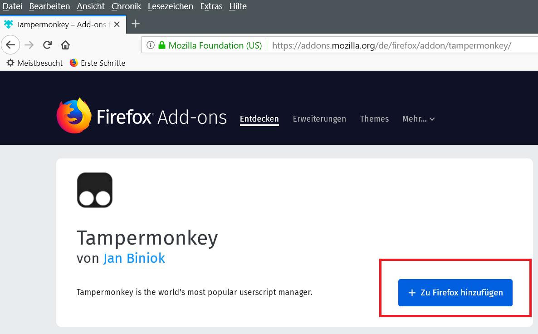 tm downloaden - Firefox die Tab Erkennung deaktivieren