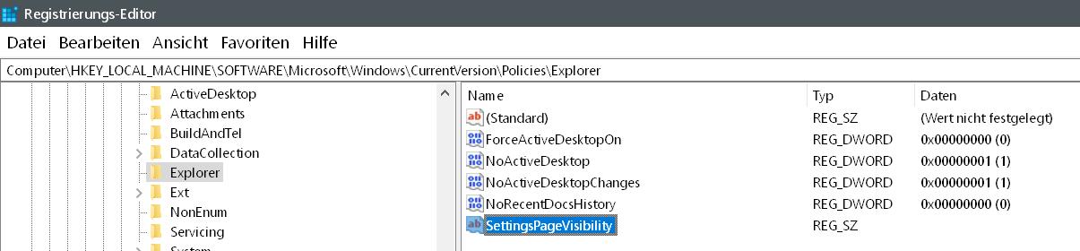 zeichenfolge erstellt - Windows 10 Eintrag Spielen unter Einstellungen entfernen