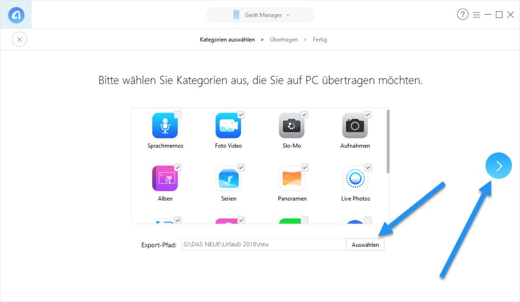 daten auf computer speichern 1024x596 - iOS Manager AnyTrans 7 erschienen – Wir verlosen 5 Lizenzen