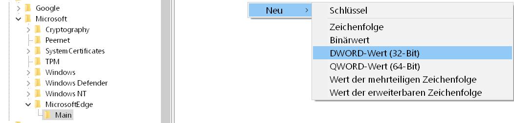In neuem InPrivate-Fenster öffnen entfernen im Edge Browser 9