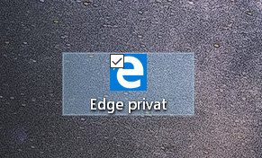 fertige verknuepfung - InPrivate-Modus dauerhaft im Edge Browser nutzen