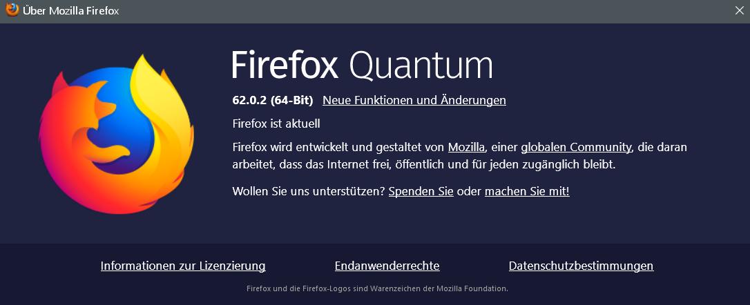 fx 62.0.2 - Firefox Version 62.0.2 ist erschienen
