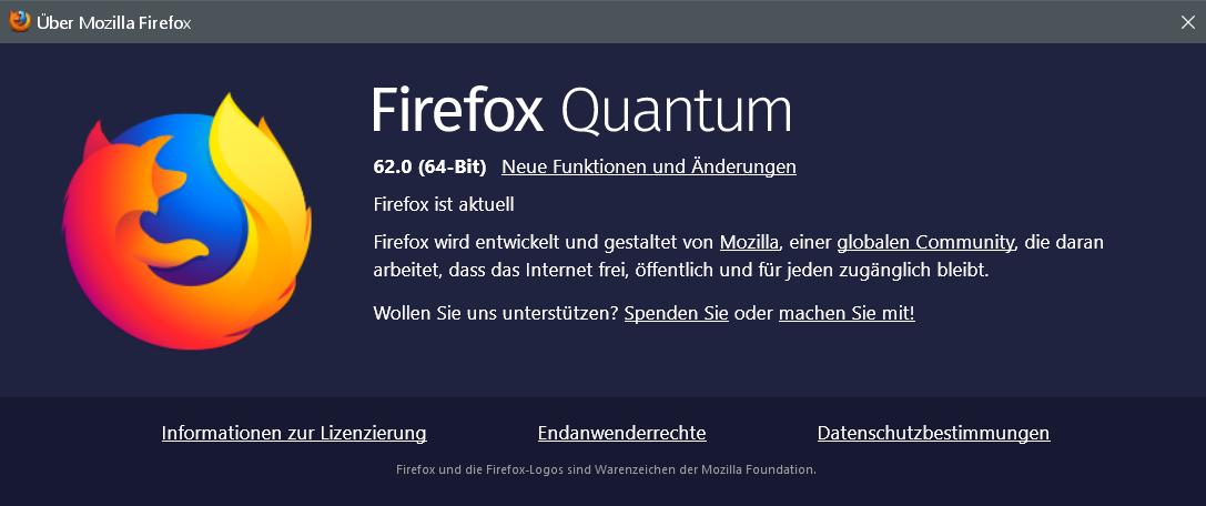 fx62 - Firefox Version 62 ist erschienen