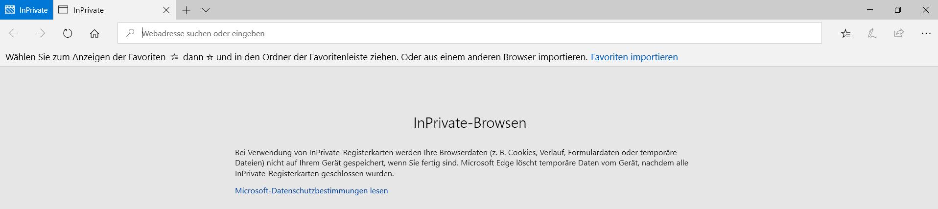 immer privater modus - InPrivate-Modus dauerhaft im Edge Browser nutzen
