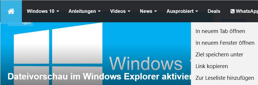 In neuem InPrivate-Fenster öffnen entfernen im Edge Browser 12