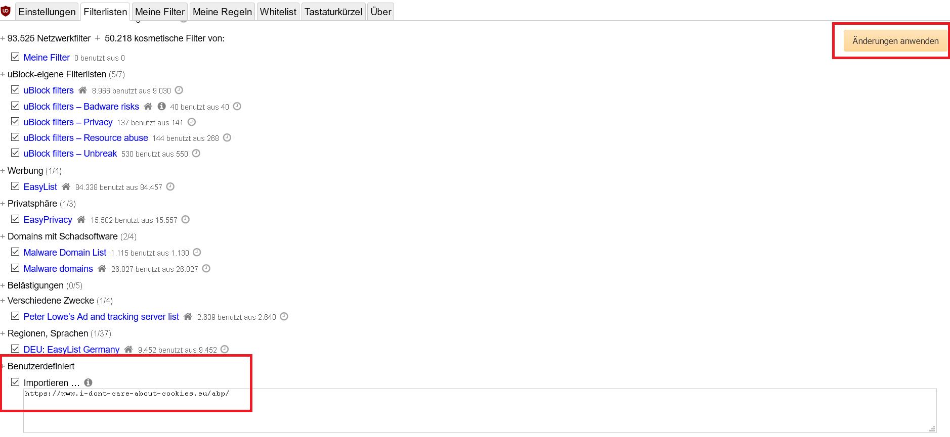 url eingeben und bestaetigen - Cookie-Hinweis auf Webseiten ausblenden im Firefox