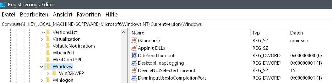 wert gefunden 1 - Windows Version auf dem Desktop anzeigen