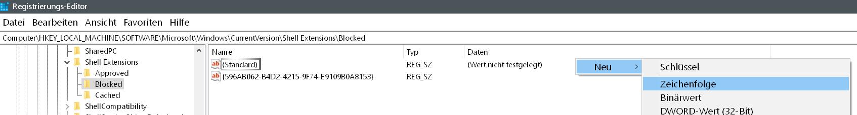 neue zeichenfolge - Wiedergabe auf Gerät entfernen Windows 10