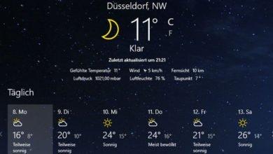 Bild von Windows 10 – aktuelle Wetter auf dem Desktop anzeigen
