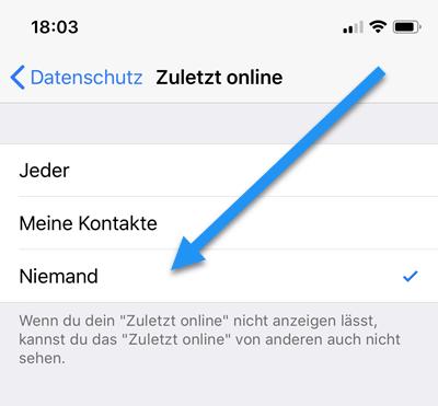 whatsapp online status iphone
