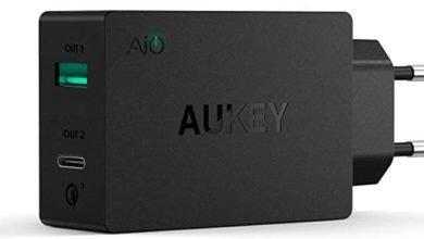 aukey ladegerae 390x220 - AUKEY USB C Ladegerät Duale Ports USB für 5,99€ (statt 20€)