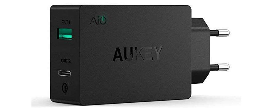 aukey ladegerae 830x350 - AUKEY USB C Ladegerät Duale Ports USB für 5,99€ (statt 20€)