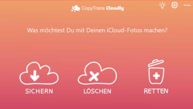 copytrans cloudly sichern loeschen wiederherstellen 390x220 - CopyTrans Cloudly ausprobiert – Wir verlosen 5 Lizenzen