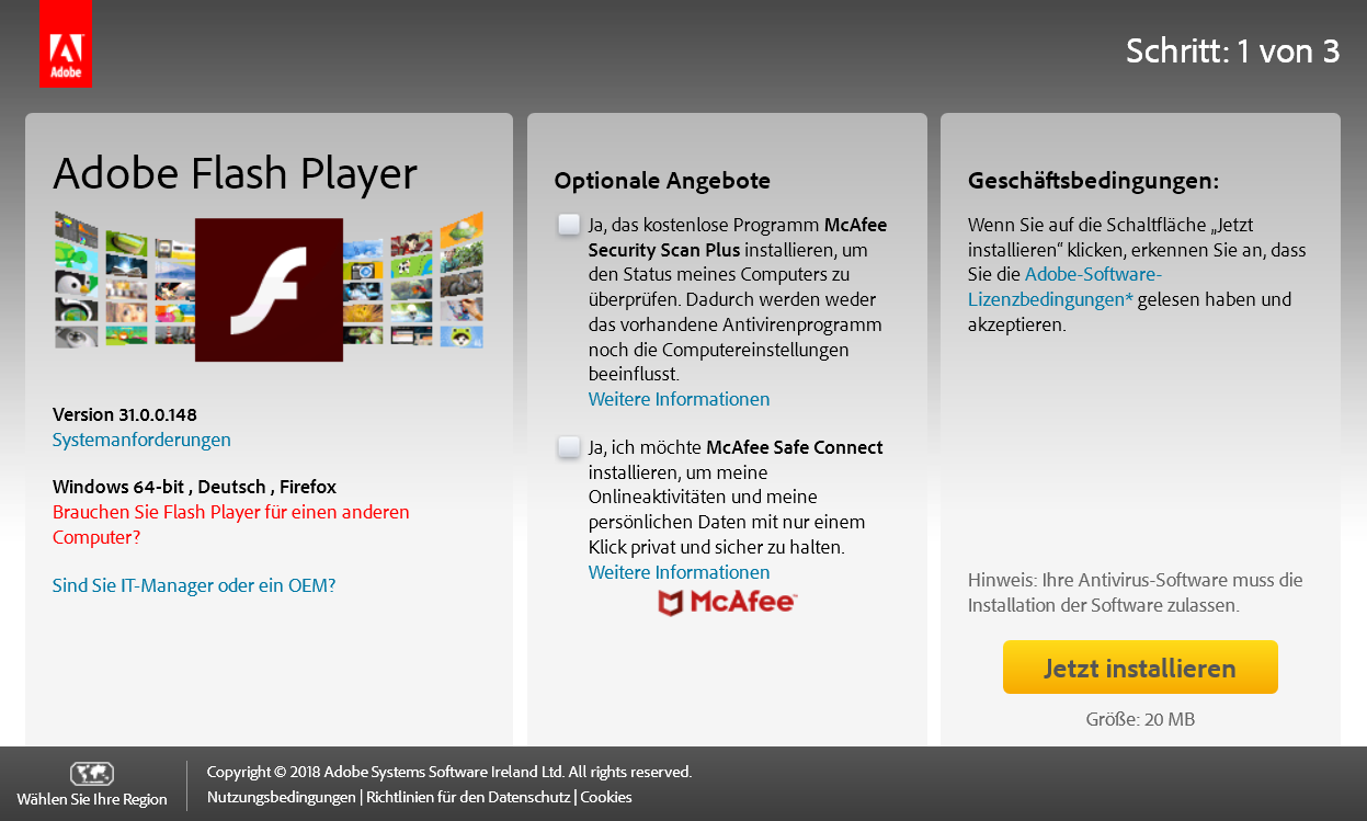 flashplayer - Adobe Flash Player die neue Version 31.0.0.148 ist erschienen