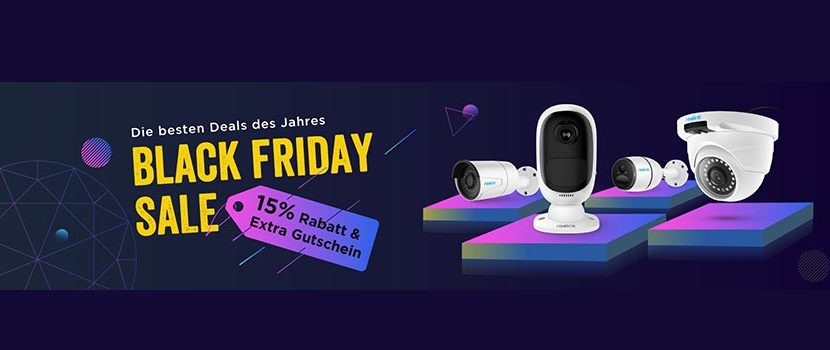 reolink black friday 830x350 - Reolink Black Friday 15% Rabatt & Extra Gutscheine