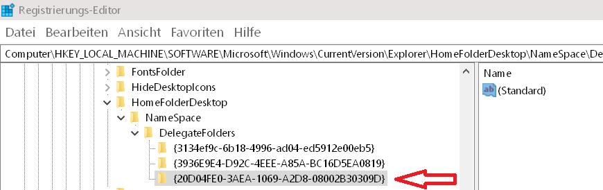 schluessel erstellt - Laufwerke im Schnellzugriff anzeigen Windows 10