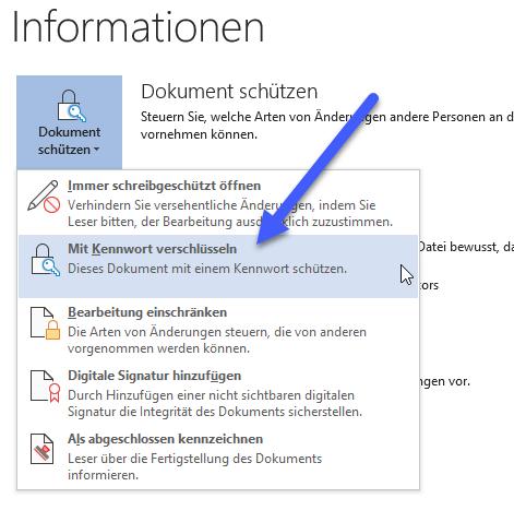 word datei mit kennwort verschuesseln - Word Datei mit Passwort schützen - Dokument Kennwort einrichten