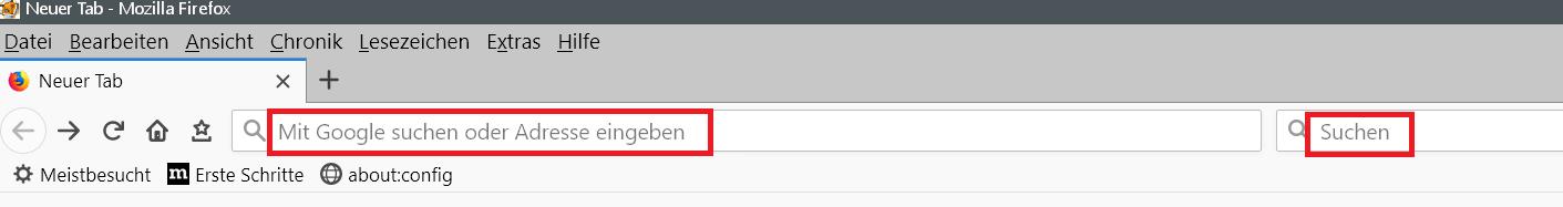 adress und suchleiste - Adress- und Suchleiste den Text entfernen im Firefox