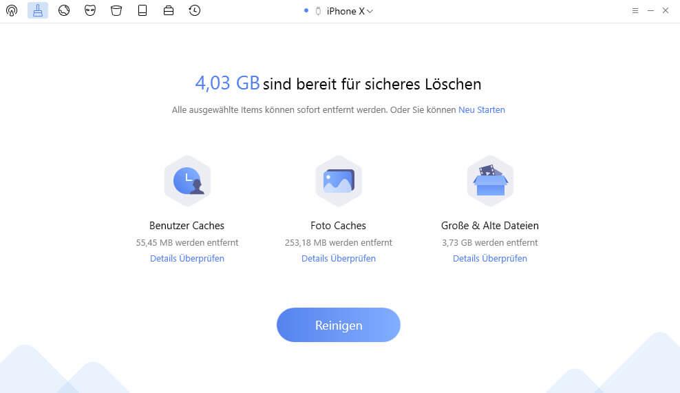 datenmuell von ihren iphone ipad aufspueren - PhoneClean – Reinigungs-Tool für iPhone & iPad – wir verlosen 5 Lizenzen