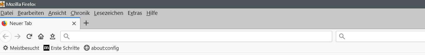 ohne eintraege - Adress- und Suchleiste den Text entfernen im Firefox