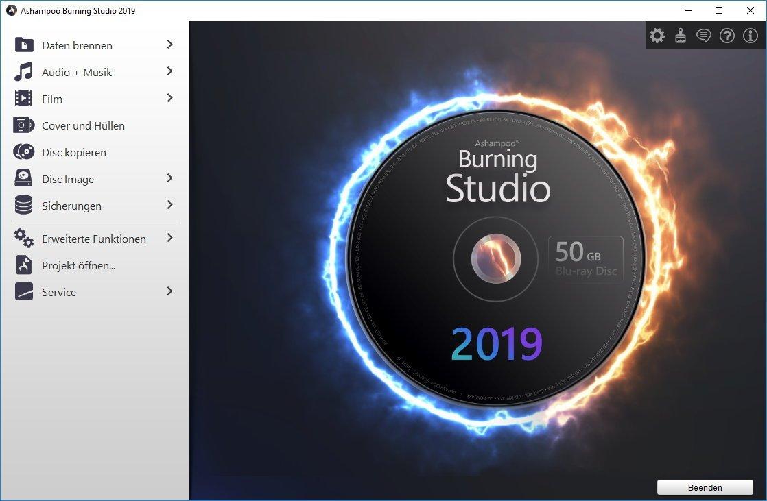 programm bild - Ashampoo® Burning Studio 2019 - Kostenlos
