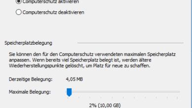 Bild von Windows 10 Computerschutz deaktivieren