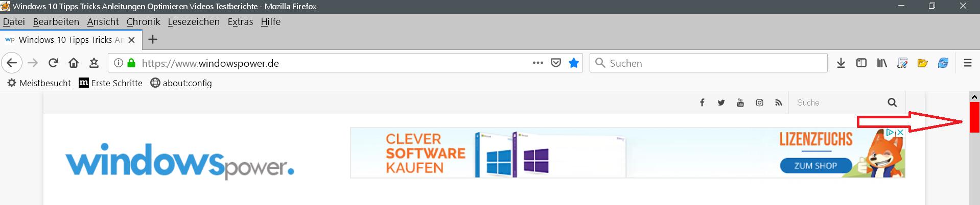 webseite - Scrollbar Farbe innerhalb vom Firefox ändern