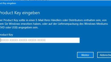 Bild von Windows 10 Lizenzschlüssel eingeben