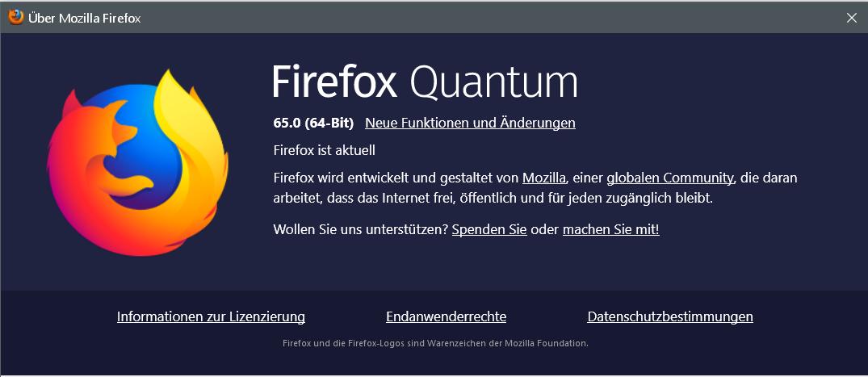 65 - Firefox Version 65 ist erschienen und steht zum Download bereit