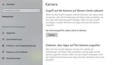 Bild von Zugriff für Webcam & Mikrofon einstellen Windows 10